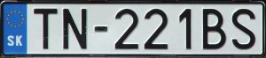 Evidenčné číslo vozidla ŠPZ